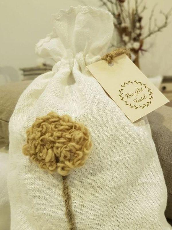 Săculeți cu lână și lavandă
